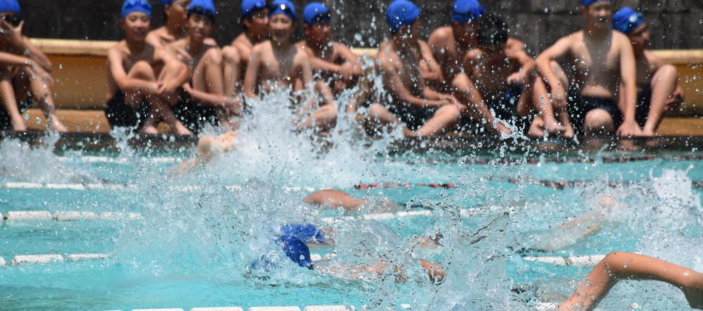 中学水泳大会