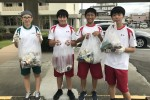 中学生徒会&有志 ボランティア清掃活動
